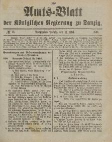 Amts-Blatt der Königlichen Regierung zu Danzig, 11. Mai 1901, Nr. 19