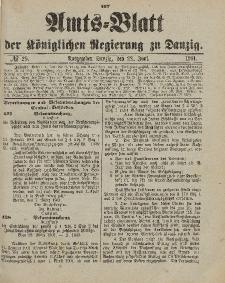 Amts-Blatt der Königlichen Regierung zu Danzig, 22. Juni 1901, Nr. 25