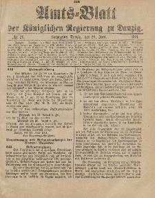 Amts-Blatt der Königlichen Regierung zu Danzig, 29. Juni 1901, Nr. 26