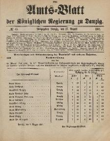 Amts-Blatt der Königlichen Regierung zu Danzig, 17. August 1901, Nr. 33