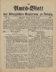 Amts-Blatt der Königlichen Regierung zu Danzig, 24. August 1901, Nr. 34