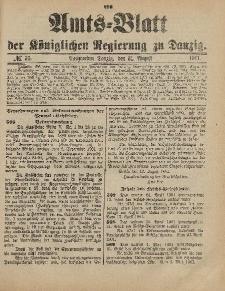 Amts-Blatt der Königlichen Regierung zu Danzig, 31. August 1901, Nr. 35