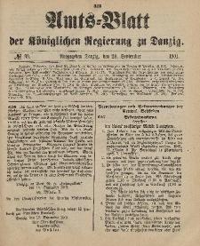 Amts-Blatt der Königlichen Regierung zu Danzig, 28. September 1901, Nr. 39