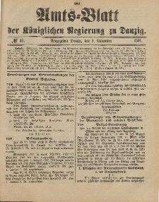 Amts-Blatt der Königlichen Regierung zu Danzig, 9. November 1901, Nr. 45