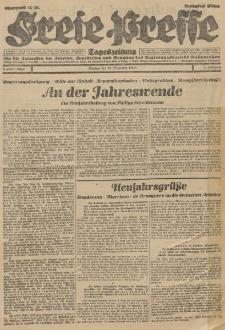 Freie Presse, Nr. 305 Montag 31. Dezember 1928 4. Jahrgang