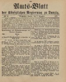 Amts-Blatt der Königlichen Regierung zu Danzig, 7. Dezember 1901, Nr. 49