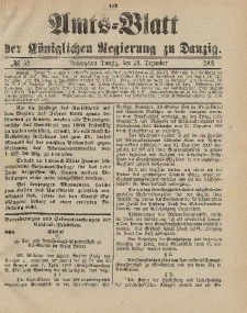 Amts-Blatt der Königlichen Regierung zu Danzig, 28. Dezember 1901, Nr. 52