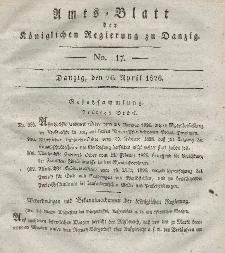 Amts-Blatt der Königlichen Regierung zu Danzig, 26. April 1826, Nr. 17