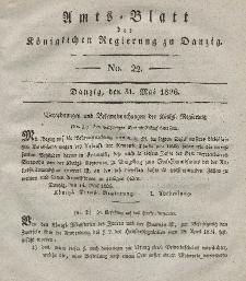 Amts-Blatt der Königlichen Regierung zu Danzig, 31. Mai 1826, Nr. 22