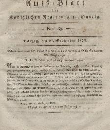 Amts-Blatt der Königlichen Regierung zu Danzig, 27. September 1826, Nr. 39