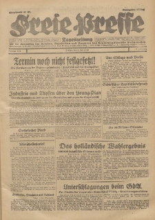 Freie Presse, Nr. 154 Freitag 5. Juli 1929 5. Jahrgang