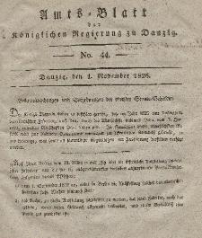 Amts-Blatt der Königlichen Regierung zu Danzig, 1. November 1826, Nr. 44