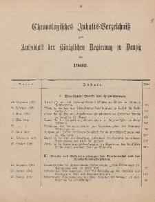 Chronologisches Inhaltsverzeichnis zum Amtsblatt der Königlichen Regierung zu Danzig pro 1902