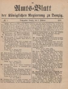 Amts-Blatt der Königlichen Regierung zu Danzig, 1. Februar 1902, Nr. 5