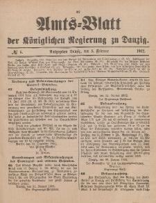 Amts-Blatt der Königlichen Regierung zu Danzig, 8. Februar 1902, Nr. 6