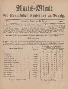 Amts-Blatt der Königlichen Regierung zu Danzig, 15. Februar 1902, Nr. 7