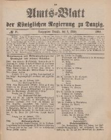 Amts-Blatt der Königlichen Regierung zu Danzig, 8. März 1902, Nr. 10