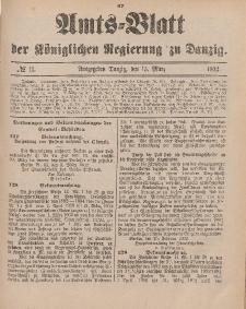 Amts-Blatt der Königlichen Regierung zu Danzig, 15. März 1902, Nr. 11