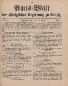 Amts-Blatt der Königlichen Regierung zu Danzig, 22. März 1902, Nr. 12