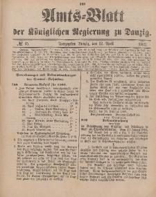 Amts-Blatt der Königlichen Regierung zu Danzig, 12. April 1902, Nr. 15