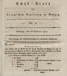Amts-Blatt der Königlichen Regierung zu Danzig, 7. Februar 1822, Nr. 6