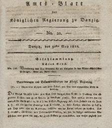 Amts-Blatt der Königlichen Regierung zu Danzig, 30. Mai 1822, Nr. 22