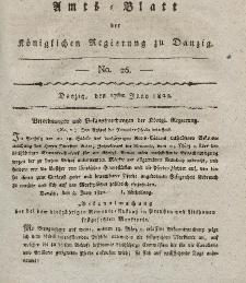 Amts-Blatt der Königlichen Regierung zu Danzig, 27. Juni 1822, Nr. 26