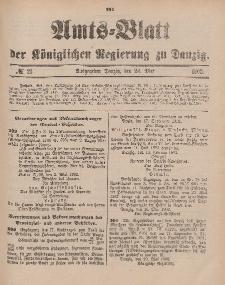 Amts-Blatt der Königlichen Regierung zu Danzig, 24. Mai 1902, Nr. 21