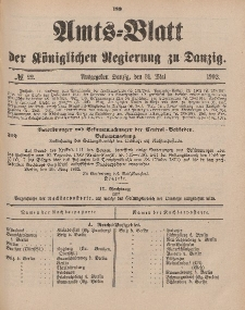 Amts-Blatt der Königlichen Regierung zu Danzig, 31. Mai 1902, Nr. 22