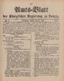 Amts-Blatt der Königlichen Regierung zu Danzig, 21. Juni 1902, Nr. 25