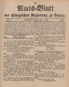 Amts-Blatt der Königlichen Regierung zu Danzig, 5. Juli 1902, Nr. 27