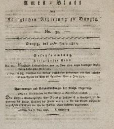 Amts-Blatt der Königlichen Regierung zu Danzig, 25. Juli 1822, Nr. 30