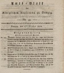 Amts-Blatt der Königlichen Regierung zu Danzig, 17. Oktober 1822, Nr. 42