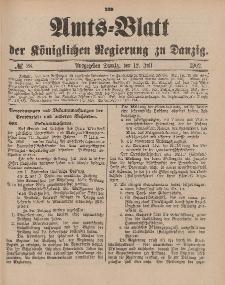 Amts-Blatt der Königlichen Regierung zu Danzig, 12. Juli 1902, Nr. 28