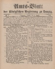 Amts-Blatt der Königlichen Regierung zu Danzig, 2. August 1902, Nr. 31