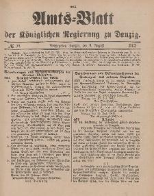 Amts-Blatt der Königlichen Regierung zu Danzig, 9. August 1902, Nr. 32