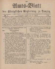 Amts-Blatt der Königlichen Regierung zu Danzig, 16. August 1902, Nr. 33