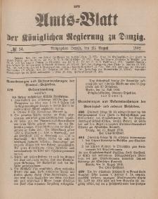 Amts-Blatt der Königlichen Regierung zu Danzig, 23. August 1902, Nr. 34