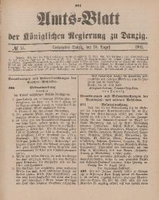 Amts-Blatt der Königlichen Regierung zu Danzig, 30. August 1902, Nr. 35