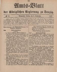 Amts-Blatt der Königlichen Regierung zu Danzig, 6. September 1902, Nr. 36