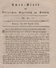 Amts-Blatt der Königlichen Regierung zu Danzig, 6. August 1818, Nr. 32