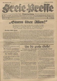 Freie Presse, Nr. 165 Donnerstag 18. Juli 1929 5. Jahrgang
