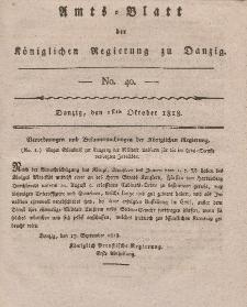 Amts-Blatt der Königlichen Regierung zu Danzig, 1. Oktober 1818, Nr. 40