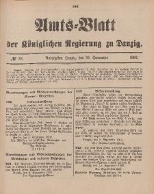 Amts-Blatt der Königlichen Regierung zu Danzig, 20. September 1902, Nr. 38