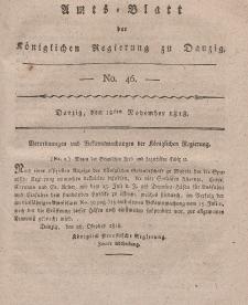 Amts-Blatt der Königlichen Regierung zu Danzig, 12. November 1818, Nr. 46