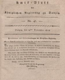 Amts-Blatt der Königlichen Regierung zu Danzig, 19. November 1818, Nr. 47
