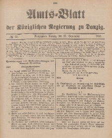 Amts-Blatt der Königlichen Regierung zu Danzig, 27. September 1902, Nr. 39