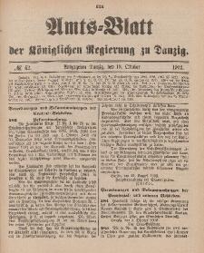 Amts-Blatt der Königlichen Regierung zu Danzig, 18. Oktober 1902, Nr. 42