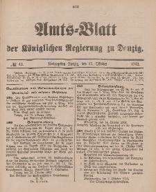 Amts-Blatt der Königlichen Regierung zu Danzig, 25. Oktober 1902, Nr. 43