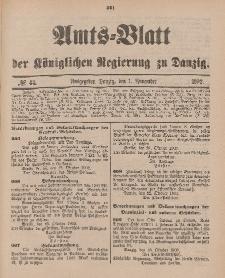 Amts-Blatt der Königlichen Regierung zu Danzig, 1. November 1902, Nr. 44